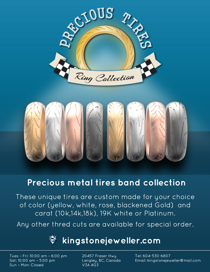 Precious Tires Ring Collection